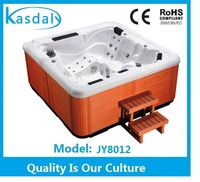 JY8012 Acrylic material whirlpool massage hot tubs outdoor used with spa cover lifter