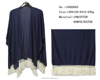 one color polyester shawls woman spring tassels pashmina capes