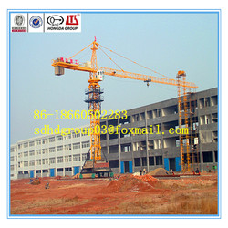 Good quality tower crane factory directly sale, QTZ80A(5512) 6T travelling/mobile tower crane on sale