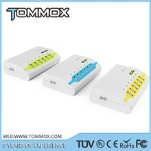 Tommox 40w Desktop 6 Port Usb Charger For Ipad Iphone With Power Adapter For Iphone 6 For Samsung Galaxy S4 I9500/note