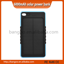 Solar Panel Charger Waterproof Portable 8000mAh Power Bank for iphone6 smart phone