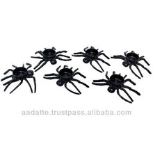 Indain handicarft art and craft six pieces running black spiders tea light holder