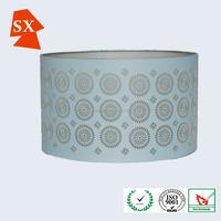 round laser cut fabric wire frames umbrella wood porcelain led lamp shade