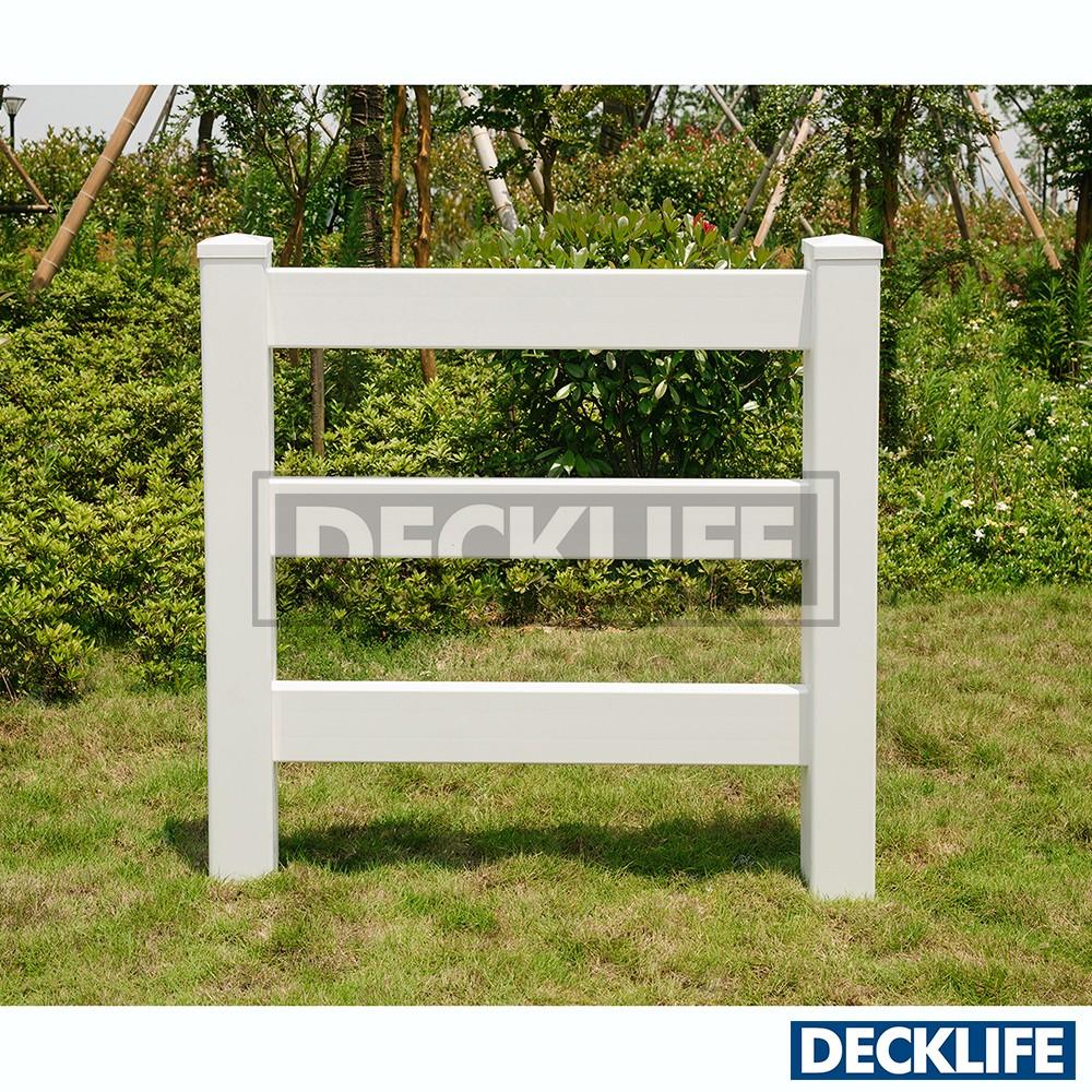 pvc en vinyle ranch cheval blanc cl tures trois rails rr1555 3 8 s cl tures treillis et. Black Bedroom Furniture Sets. Home Design Ideas