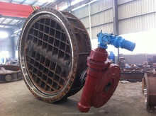 Water valve DN2800 PN6 Electric QT450-10 Butterfly valve