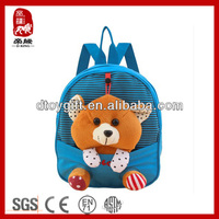 2014 backpack for import toy stationery China wholesale detachable bear animal toy bag bear plush teddy bear backpack for kid