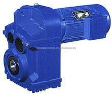 China made Guomao high efficiency parallel shaft helical geared motor forward reverse gearbox