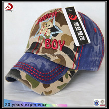 Two cloth splicing camo baby boy baseball caps and hats 2015