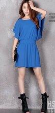 ladies plain color cotton dress 2012