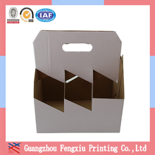 Custom Wholesale Portable 6 Pack Corrugated Bottle Carriers