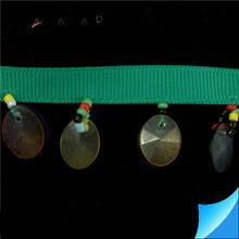 La muestra libre! verde con cuentas cinta y cinta de encaje