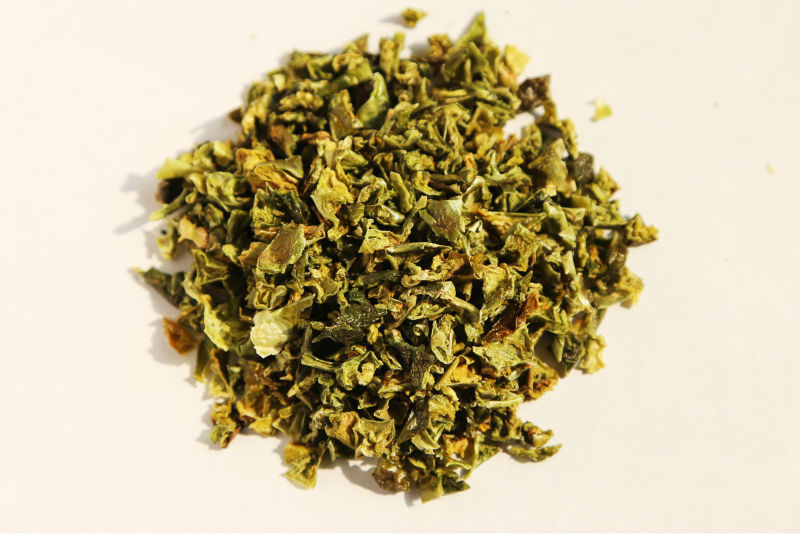 Dehydrated Green Bell Pepper Flakes, Granules, Powder