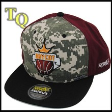 6panel embroidery camouflage flat brim basketball hats