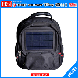 BSCI audited new wholesale products solar power backpack