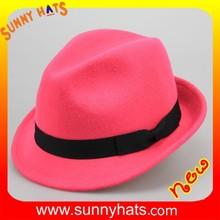 SHL- 1963 alibaba online shopping hat making custom gangster fedora hat