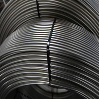 High luster,rigidity and durability coiled stainless steel tubing