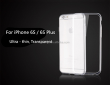 Buy direct from china ultra thin transparent clear tpu gel silicone back cover case for iphone 6s china price