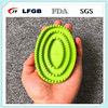 Silicone rubber bathing brush & pet grooming comb