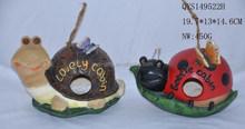 wholesale resin snail shape bird houses for garden decoration
