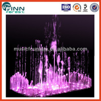 Factory supply color changing Square Hot sale Garden Fountain Scene
