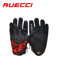 full finger Neoprene and rubber knuckle protection system riding bicycle gloves