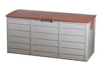 New Outdoor Storage Box 290L Plastic Container Weatherproof Brown