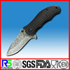 High Quality camping Damascus knife with G10 Insert handle