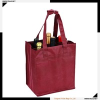 100% QC custom make 100g recycled PP non woven wine bag