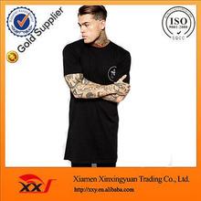 mens hip hop clothing custom t shirt printing design your own logo longline t shirt retail online shopping
