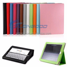 Tablet PC Leather case Folding leather case for Ipad Mini
