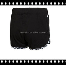 Fahion Black Running Shorts,Ladies Favorite Short,Cheap Short
