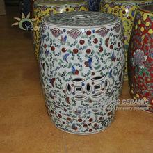 Chinese Ceramic Antique Furniture White Ottoman Or Garden Stools