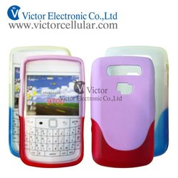 Double color tpu case two tone gel case for Blackberry bold 9700