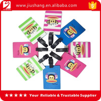 Cute custom design plastic luggage airline tag with business card insert
