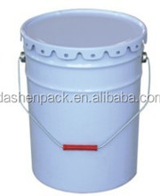 5gallon 20L tapered metal chemical paint pail w/out handle lug cover