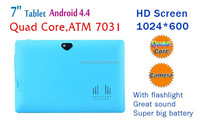 """Free Welcome your own brand MID, long time film playing 7"""" android quad core tablet video input"""