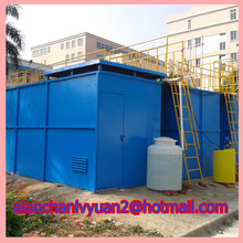Integrated MBR waste water equipment/gas floating setting