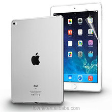 Clear Transparent Flexible TPU Slim Case Cover For Apple iPad Air 2 Includes Screen Protector