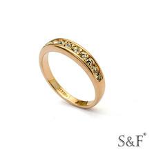 090350a wholesale cheap yellow gold platinum men's gemstone rings