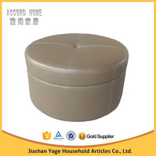Home Living Room Round Stool, Round Leather Ottoman