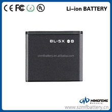 China factory 650mAh mobile phone battery BL-5X for Nokia