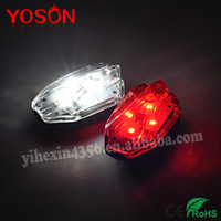 2014 New USB Rechargeable LED Bicycle White Red Tail Light Safety Mountain Bike Rear Light