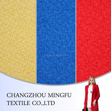 yellow/blue/red colour overcoating wool fabric, woolen fabric for coats