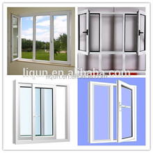 2015 china factory high quality famous brand profile and tempered glass aluminum single casement window