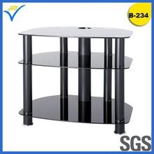 screen Modern Glass tv stand/european tv flat