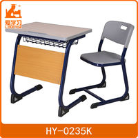 durable cheap clasroom school study desk and chair