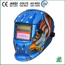 WH0413 Blue Welding Helmets with Eagle Decal