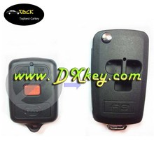 High quality 3 buttons modified flip key shell for byd car universal flip key remote key case