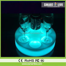 rgb color change led coffee table/luminous table led furniture