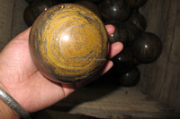 cheapest Natural polished yellow tiger eye crystal ball sphere